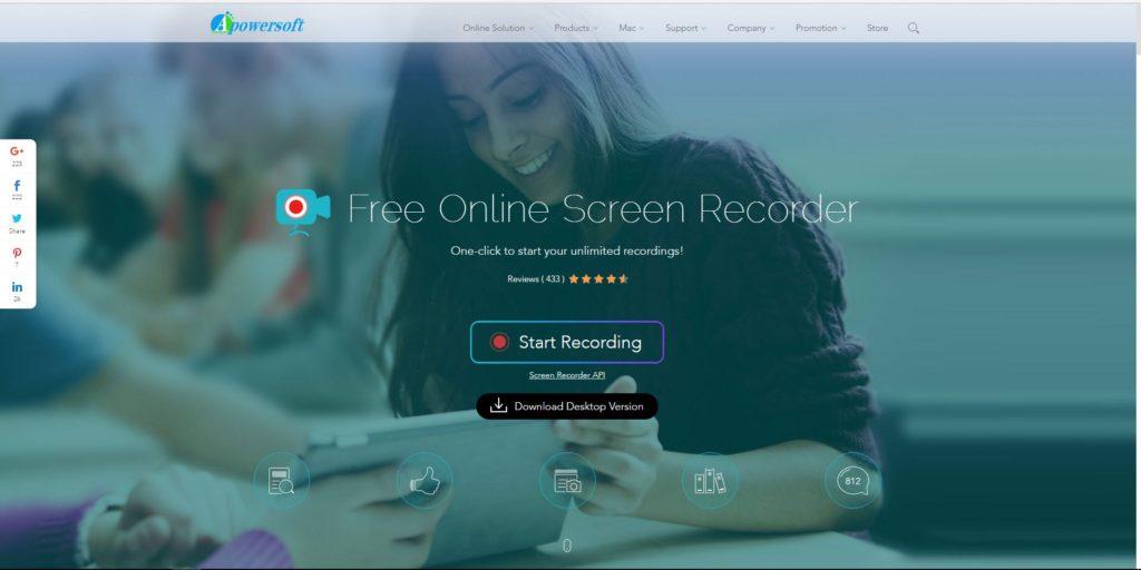 Ingyenes online képernyővideó-felvevő használata